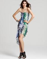BCBG Maxazria Aida Asymmetrical Strapless Printed Dress Size 6 NWT $338
