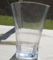 FTD Modern Clear Glass Flower Vase Rectangular 9 '' Fan Shaped