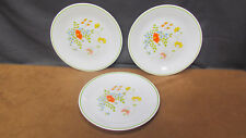 "Lot Of 3 Corelle Corning Wildflower Spring Meadow 8-1/2"" Lunch Plates Usa"
