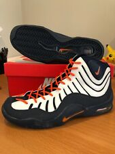 New Nike Air Bakin Max 360 Tim Hardaway 2007 Navy Orange Syracuse Penny Sz 12