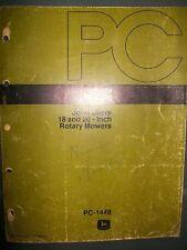 John Deere 18 & 20 Inch Rotary Mower 1977:Parts Catalog