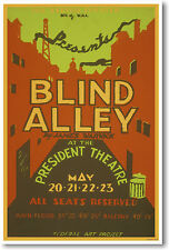 Blind Alley by James Warwick at the President Theatre - NEW Vintage Art POSTER