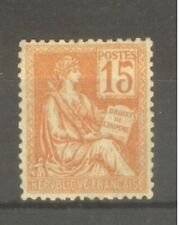 "FRANCE STAMP TIMBRE N° 117 "" TYPE MOUCHON 15c ORANGE 1900 "" NEUF xx SUP"