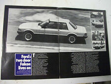 SPANMOR 2-DOOR FORD XE FAIRMONT GHIA/ESP 2 PAGE MAGAZINE FEATURE ARTICLE