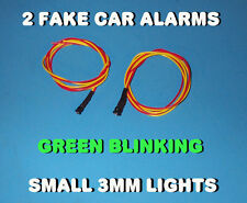 FAKE CAR ALARM LED LIGHT- 3mm GREEN FLASHING 12v 24v  BLINK BLINKING FLASH