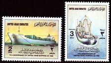 UAE 1986 ** Mi.201/02 Arabische Schiffahrtsgesellschaft   Schiffe Ships Frachter