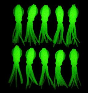 ORIGINAL B-2 SQUIDS FISHING LURES B2 SQUID BODIES GLOW FLUKE SEABASS