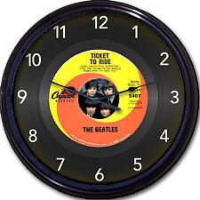 The Beatles Ticket to Ride Wall Clock Retro Image Vinyl 45 RPM Record McCartney