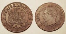 2 Centimes Napoléon III, 1854 BB Strasbourg, TTB+ !!