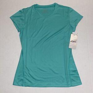 Asics Core Running Crew Neck T-Shirt Green (80), Women's Size X-Small XS NWT