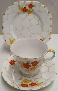 Art Deco Mayer & Sherratt Melba China Handpainted Trio c1925-41 Made in England