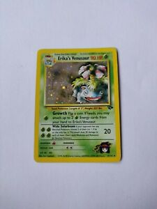 Erika's Venusaur 4/132 Holo Pokemon Card. Gym Heroes. Light Play.