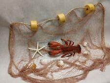 Authentic Fishing Net, Floats, Rope, Starfish,Nautical Decor 12 Ft x 8 Ft
