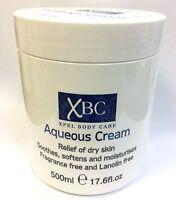 XBC Aqueous Cream *Relief Of Dry Skin* Fragrance & Lanolin Free 500 ml / 17.6 oz