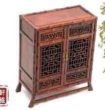 Doll Furniture Chinese Mahogany Bamboo Cambinet~1:6 Scale Barbie