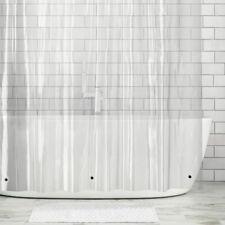 "mDesign LONG Waterproof Vinyl Shower Curtain Liner - 72"" x 84"" - Clear"