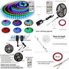 12V Rgb Led Strip Lights Kit Addressable Dream Color Lighting W/ Chasing New