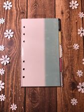 Webster Pages Planner Dividers Hole Punched