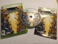 XBOX 360 GAME STORMRISE STORM RISE +BOX & INSTRUCTIONS / COMPLETE PAL By SEGA