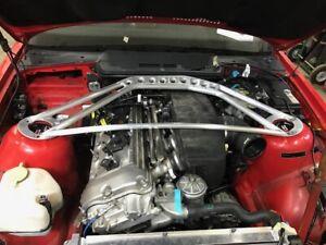 BMW MASON ENG. ALUMINUM  ALLOY STRUT BRACE F.  E36 S54 MOTOR  M3 TRACK SPEC.