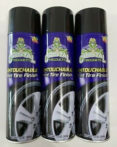 Cristal Products Untouchable Wet Tire Finish 13oz Pack of 3 Ever Wet Look