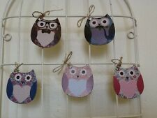 Owl Gift Tags / Birthday Tea Party Wedding Place cards / 2 Woodland Design Sets