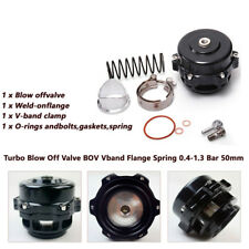 Black Auto Car Turbo Blow Off Valve BOV Vband Flange Spring 0.4-1.3 Bar 50mm