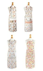 Spotted Dog Cotton Aprons with Pocket Cooking Baking Kitchen Ladies Apron Women