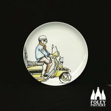 """Lambretta 6"""" plate , Foley Pottery, quadrophenia, Vespa Scooters"""