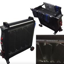 NEW Black Mica Heater 1500 Watt 3 Pannel Standing Thermostat Convector Heater
