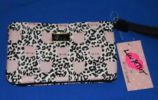 Betsey Johnson Wristlet Wallet Leopard + Pink Cats LB61006  $26.- NWT Free/Ship