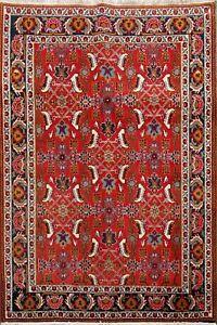 Excellent Vintage Geometric Kashkoli Handmade Area Rug Nomad Oriental Carpet 3x5