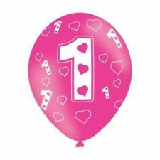 "6 Amscan 1 1st Birthday 11"" Latex Balloons Reduced"