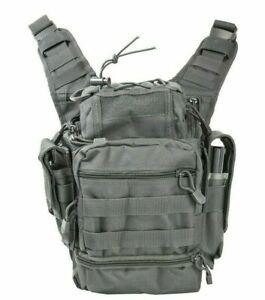 VISM First Responder Rapid Deployment Sling Bag CCW Shooting Gear Hunting GRAY