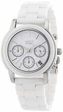 DKNY Women's NY4912 Chronograph White Dial Ceramic Bracelet Watch
