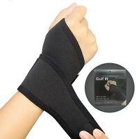 2 Pack Wrist Support Brace, Adjustable Wrist Strap Reversible Right Left Black