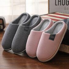 36-46 Warm Herren Damen Pantoffeln Puschen Hausschuhe Schlappen Schuhe