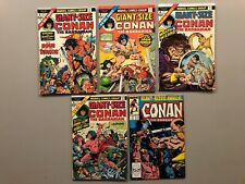 GIANT SIZE CONAN THE BARBARIAN #1-3-4-5 & ANNUAL #12 BRONZE AGE ALL NICE COND.