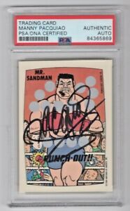 1989 Topps Nintendo Punch Out Manny Pacquiao Signed Auto Trading Card 10 PSA/DNA