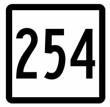 Connecticut State Route 254 Sticker Decal R5229 Highway Route Sign