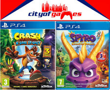 Crash Bandicoot NSane Trilogy & Spyro Reignited Trilogy Bundle PS4 New In Stock