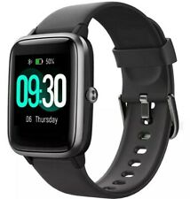 Willful Smart Watch for Android iOS Compatible iPhone Samsung Waterproof Black