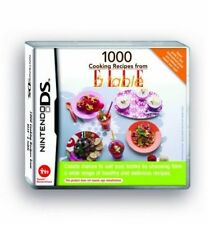 1000 Cooking Recipes From Elle a Table - Nintendo DS X 30
