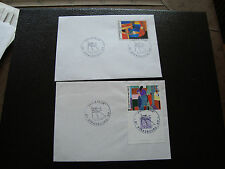 FRANCE - 2 enveloppes 1986 (cy44) french