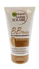 GARNIER AMBRE SOLAIRE- BB BODY NO STREAKS BRONZER 5 IN 1- 24HR HYDRATION- 150ml