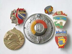 France, European Lot of 6 Firefighter Badges , Badge , medal , order - ?