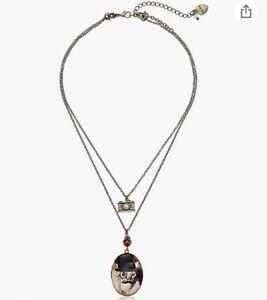 Betsey Johnson Jewelry Vintage Lockets Cat & CameraDuo Necklace  #129A