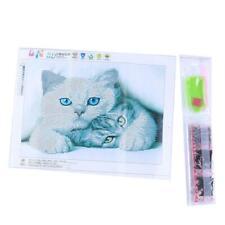 White Cat DIY 5D Diamond Painting Kitten Cross Stitch Kits Home Decor Craft SS3