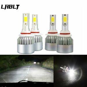 4x 9005+9006 LED Headlights Bulb Kit for Honda Civic 2004-2013 Odyssey 2005-2010