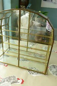 Glass mirrored domed Emma Bridgewater display storage thimble cabinet cupboard